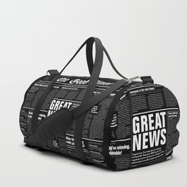 The Good Times Vol. 1, No. 1 REVERSED / Newspaper with only good news Duffle Bag