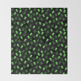 Aliens-Green Throw Blanket