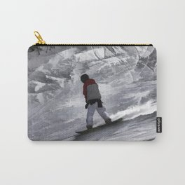 "Snowboarder ""just cruisin'"" Winter Sports Gift Carry-All Pouch"