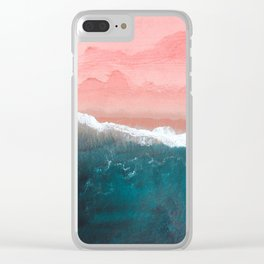 Turquoise Sea Pastel Beach II Clear iPhone Case