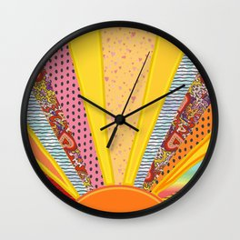Sun Patterns Wall Clock