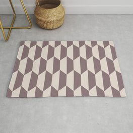 Classic Trapezoid Pattern 244 Beige Rug