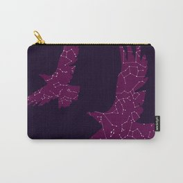 Cosmic Eagle, Purple Galaxy, Constellations Carry-All Pouch