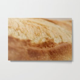 Fresh French Roll Baguette Texture Metal Print