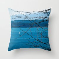 frame Throw Pillows featuring Frame by Kiersten Marie Photography