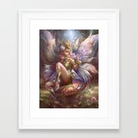 fairy Framed Art Prints featuring Fairy by YuChengHong