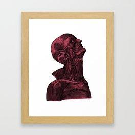 Sacred Man-Crimson Framed Art Print
