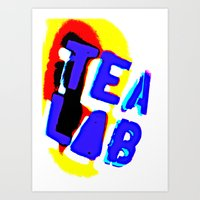 lab Art Prints featuring Tea Lab by mark jones