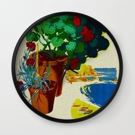 Retro Travel Poster - Spain Wall Clock