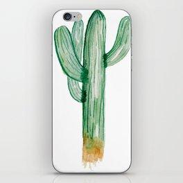 Saguaro Cactus Watercolor Art Hand Painted iPhone Skin