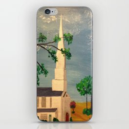 The Steeple, McClain Ave Baptist Church Steeple, Memphis, TN iPhone Skin