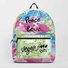 Peace love vegan Backpack