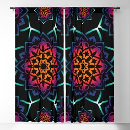 Mandala Illusion Spiritual Zen Bohemian Hippie Yoga Mantra Meditation Blackout Curtain