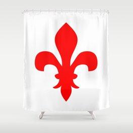 Fleur de Lis (Red & White) Shower Curtain