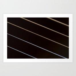 Guitar String Abstract 3 Art Print