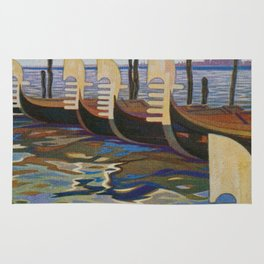 Venice, Italy Vintage Travel Poster Rug