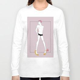 High-heel Boy Long Sleeve T-shirt