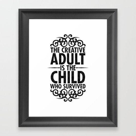 Creative Framed Art Print