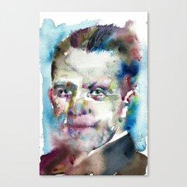 WERNER HEISENBERG - watercolor portrait Canvas Print