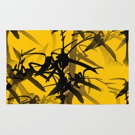 Bamboo Branches On A Yellow Background #decor #society6 #buyart #pivivikstrm Rug