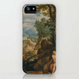 Girolamo Muziano Saint Jerome In a Landscape iPhone Case