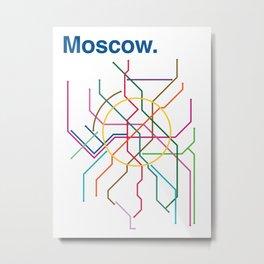 Moscow Transit Map Metal Print