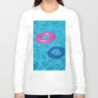pool Long Sleeve T-shirts featuring Pool by Lama BOO