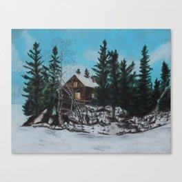 Winter Marshland Canvas Print