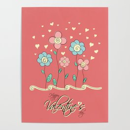 Valentine's day card Poster