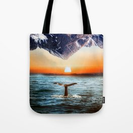 A whale and a morning Tote Bag