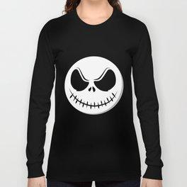 Skull - Scarry Smile (on black) Long Sleeve T-shirt