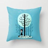 snow white Throw Pillows featuring Snow White by Freeminds