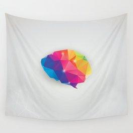 Geometric brain Wall Tapestry