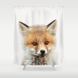 Baby Fox, Baby Animals Art Print By Synplus Shower Curtain