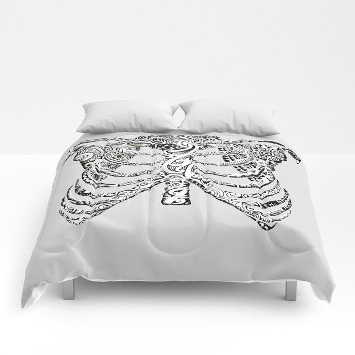 Ribcage Tattoo Comforters
