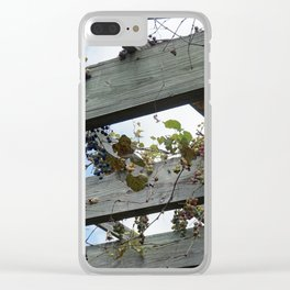 Grapes Clear iPhone Case