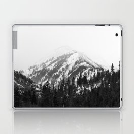 Fading Mountain Winter - Snow Capped Nature Photography Laptop & iPad Skin