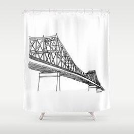 Montreal - Pont Jacques-C - Black Shower Curtain