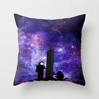 2001 a space odyssey Throw Pillows featuring 2001: A Space Odyssey  by Joshua S