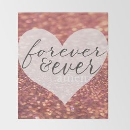 Forever And Ever Amen. Throw Blanket