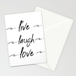 Live Love Laugh, Live Well Laugh Often, Love Wall Decor Bedroom Stationery Cards