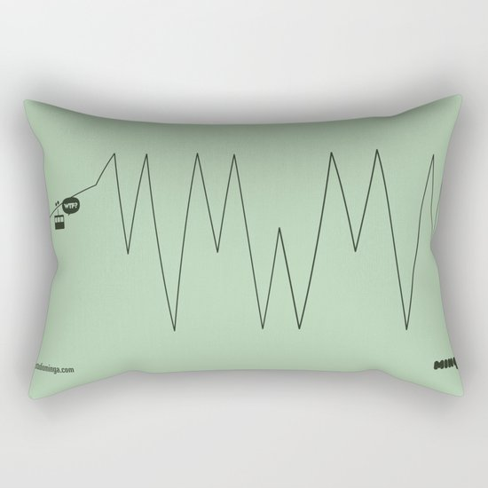 WTF? Riel! Rectangular Pillow
