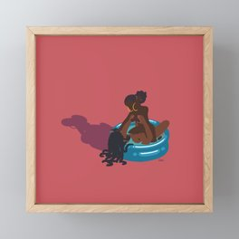 vamo na piscina? Framed Mini Art Print
