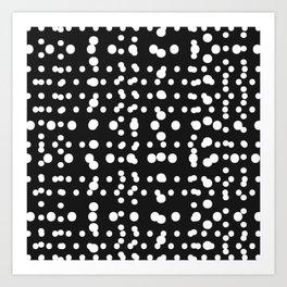 Polka Dot Scramble Art Print