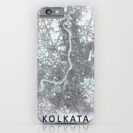 Kolkata, India, White, City, Map iPhone Case
