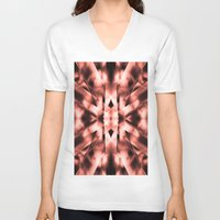 metal V-neck T-shirts featuring Metal by Assiyam