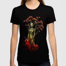 Crimson Dryad Black Womens Fitted Tee LARGE