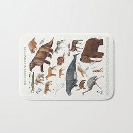 Animal chart of the Holocene extinction Bath Mat