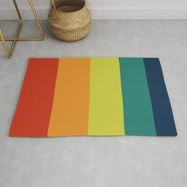 Vintage Bicycle Colorful Geometric Pattern Rug