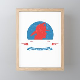 Fueled By Fire Funny Firefighter Hat Fire Service Brigade Eater Framed Mini Art Print